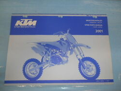 2001 Ktm 50sx Pro Senior Lc Engine And Chassis Spare Parts Manual 320822