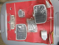 Nos Show Chrome Universal Highway Footrest Boards For 1 1/4 Inch Bars 21-303b