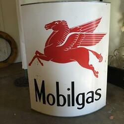 Up-cycled Artisanal Hand-forged Finished Iconic Mobil Gas Sign