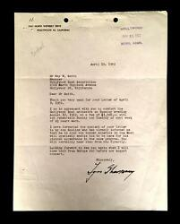 Igor Stravinsky Composer Signed Letter And Contract Re Hollywood Bowl