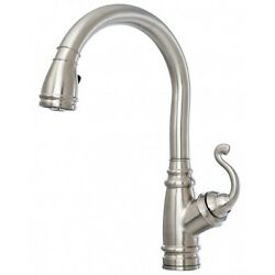 Kalia Monark Diver Pull-out Dual Spray Stainless Kitchen Faucet - Kf1032-130