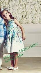 NWT Janie & Jack ENCHANTED GARDEN 2T 3 4 5 6 Floral Sateen Dress $99 Easter