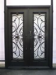 Custom 12 Gauge Wrought Iron Entry Doors by Monarch Custom Doors 72