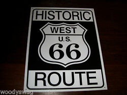 Historic West Us 66 Route New Tin Metal Sign Bar Man Cave Mother Road