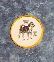 Humpty Dumpty Potato Chips Dogs # 24 Siberian Husky yellow coin