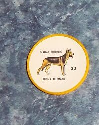 Humpty Dumpty Potato Chips Dogs # 33 German Shepard  yellow coin