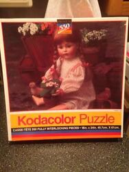 1994 Rose Art Kodacolor Flower Girl Baby Doll Premium Jigsaw Puzzle 18x24 Sealed