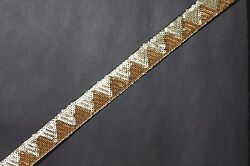 Jasdee Vintage Border Trim 1quot; Width Hand Work Sequins By Yard Style A1293
