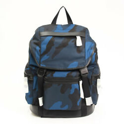 AUTHENTIC COACH MEN'S BACKPACK F54783 CAMOUFLAGE NAVY GRADE N -AT