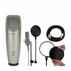 Samson C01U Pro USB Studio Condenser Mic with Pop Filter & Replacement Liners