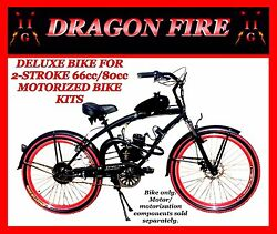 Deluxe 26 Cruiser Bike For 2-stroke 66cc/80cc Motorized Bicycle Kits