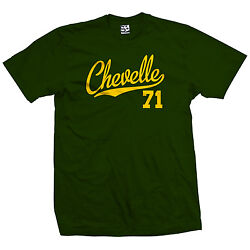 Chevelle 71 Script Tail Shirt - 1971 Classic Muscle Race Car - All Size And Colors