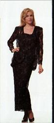 Jasdee Vintage Long Dress Hand Work Bead And Sequins On Lace Style 1024