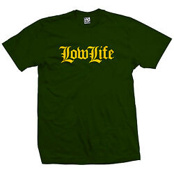 Low Life Old English T Shirt LowLife Lowrider Tee w All Sizes Car Club Colors