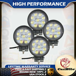 4x 27w 5inch Spot Round Led Work Light Offroad Fog Driving For Drl Suv Atv Truck