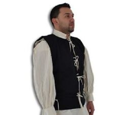 15th Century Medieval Waistcoat Vest Wool Cotton Renaissance LARP SCA Pirate