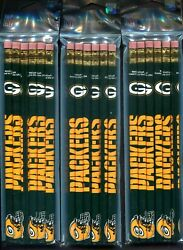 Green Bay Packers Lot Of 18 Official Nfl Team Pencils New