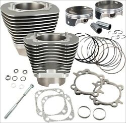 Sands Cycle 117 Ci Big Bore Cylinder Kit Stone Gray 10.91 Compression 07-16 Harl
