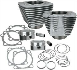 Sands Cycle Xl 883 To 1200 Silver Big Bore Coversion Kit Harley Sportster 86-15