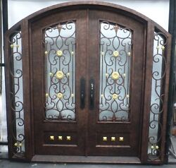 Custom Crafted 12 gauge Wrought Iron Entry door Monarch Custom Doors 96