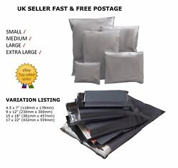 Strong Grey Mailer Bags Strong Poly Post Postage Mail Self Seal All Size Cheap