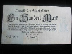 Germany Inflation Banknotes Of Wwi- 100 Mark - Dated Sept 301922very Rare