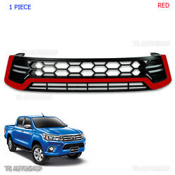 Red Color Grille Grill Front Led Daytime Runing Fit Toyota Hilux Revo 2015 16 17