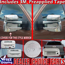 2009-2014 F150 Chrome Gas Door Handle W/kp W/opsk 2dr T Mirror Tailgate Covers