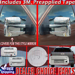 2009-2014 F150 Chrome Gas Door Handle W/kp W/psk 2dr T Mirror Tailgate Covers