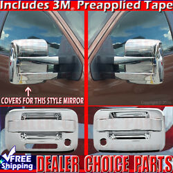 2009-2014 F150 Chrome Door Handle W/kp W/psk 2dr Towing Mirror Covers Overlays