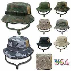100 % COTTON Bucket Hat Cap Hiking Hunting Fishing US Army Military Sun  Boonie $14.99