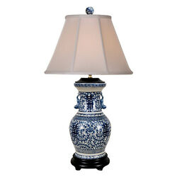 Beautiful Blue And White Porcelain Double Happiness Vase Table Lamp 30.5