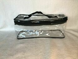 *NEW* LARGE CLEAR ZIPPERED COSMETIC VINYL PLASTIC MAKE UP BAG POUCH STORAGE CASE $4.50