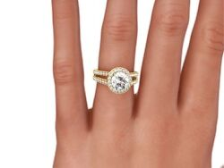 2.00 Ct Round D/vs1 Enhanced Diamond Solitaire Engagement Ring 14k Yellow Gold