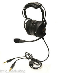 Ah500 Aviation Pilot Headset By Cancom Ptt On Cup Dual Volume Nrr 24. New