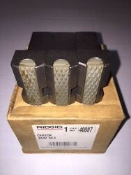 Ridgid 1224 Pipe Threader Front Chuck Jaws And Inserts Set 48007 711 714 Die Head