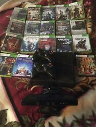 Microsoft Xbox 360 Kinect 500 Gb Two Controllers 15 Games