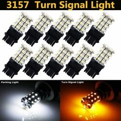 50Pcs 3157 3057 60SMD Switchback Led White Amber Dual Turn Signal Reverse Light