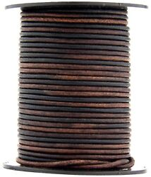 Gypsy Sippa Natural Dye Round Leather Cord 1.0mm 10 meters 11 yards