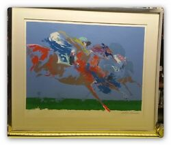 In The Stretch Orginal Artist Proof Signed By Leroy Neiman