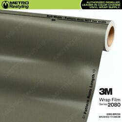 3m 2080 Series Brushed Titanium Vinyl Vehicle Car Wrap Film Sheet Roll Br230