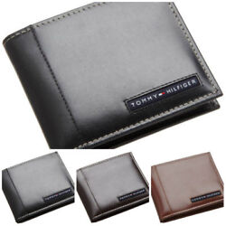 Tommy Hilfiger Men's Leather Credit Card Designer Wallet Bifold Wholesale