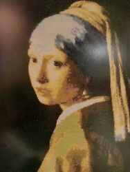 Girl With A Pearl Earring Vermer Cross Stitch Picture