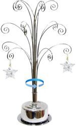 For Christmas Ornament 2021 Annual Snowflake Crystal Angel Star Stand