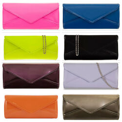 New Ladies Designers Patent Handbag Clutch Purse Prom Party Wedding Evening Bag GBP 10.50