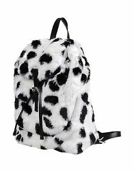 Moschino Couture Jeremy Scott Black and White Faux Fur Cow Design Backpack