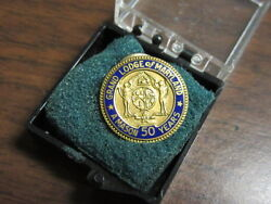 Grand Lodge Of Maryland 50 Years Lapel Pin K2a