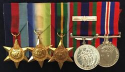 World War Ii Canadian Group Of Medals - Mounted
