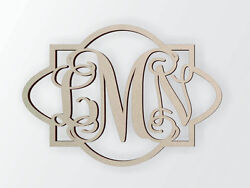 Unfinished Wooden Monogram for Individuals or Couples Home Decor Great Gift $8.15