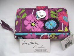 Vera Bradley FLUTTERBY TURNLOCK WALLET Coin ID CLUTCH 4 PURSE Tote BACKPACK  NWT